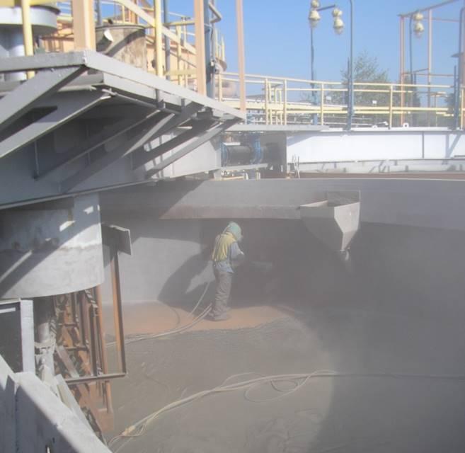 Blasting provides the optimum substrate for bonding