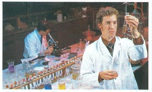 Geoff working on Belzona product formulations, 1967.