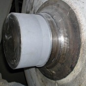 Shafts can be repaired and machined to finish flush with original design