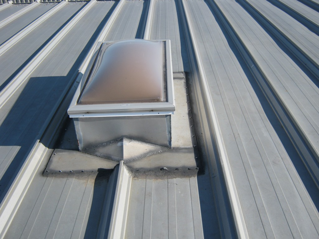 Seams around skylights and roof protrusions can cause roof vulnerabilities