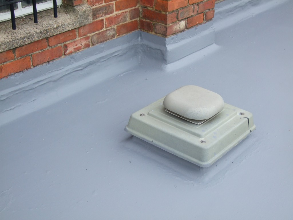 Liquid-applied systems cope extremely well with complex roofs which feature a lot of furniture