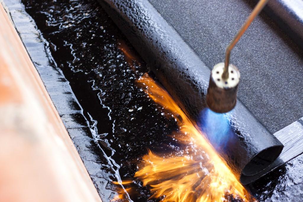 Roofing maintenance can involve dangerous hot work methods