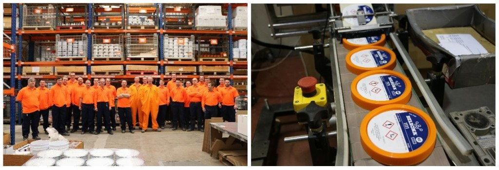 Belzona production and despatch team