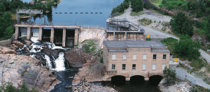 A hydroelectric power station in Ontario where Belzona repaired a turbine shaft