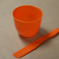 Mixing bowl and spatula