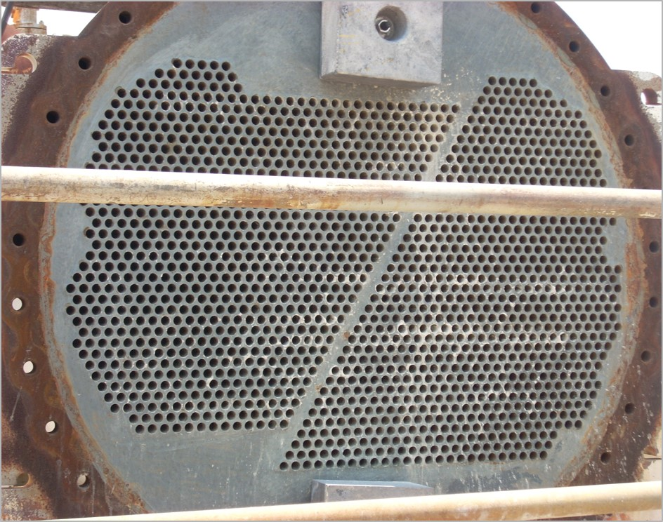 Tube sheet after 35 years in service, hvac maintenance