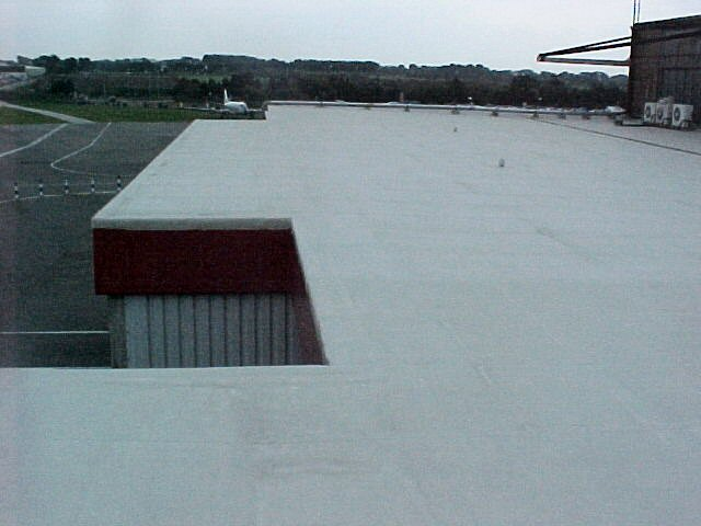 Airport fire station roof repair - airport facilities maintenance